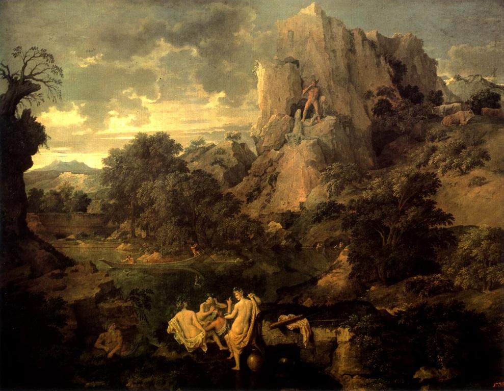 Пуссен. Пейзаж с Геркулесом и Какусом. Пейзаж с Полифемом ...